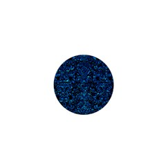 Damask2 Black Marble & Deep Blue Water 1  Mini Magnets