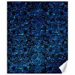 Damask2 Black Marble & Deep Blue Water Canvas 8  X 10  by trendistuff