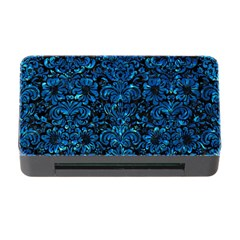 Damask2 Black Marble & Deep Blue Water Memory Card Reader With Cf by trendistuff