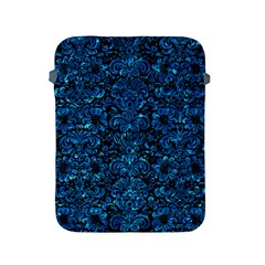 Damask2 Black Marble & Deep Blue Water Apple Ipad 2/3/4 Protective Soft Cases by trendistuff