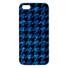Houndstooth1 Black Marble & Deep Blue Water Apple Iphone 5 Premium Hardshell Case by trendistuff