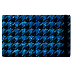 Houndstooth1 Black Marble & Deep Blue Water Apple Ipad Pro 9 7   Flip Case by trendistuff