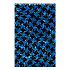 Houndstooth2 Black Marble & Deep Blue Water Shower Curtain 48  X 72  (small)  by trendistuff