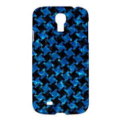 Houndstooth2 Black Marble & Deep Blue Water Samsung Galaxy S4 I9500/i9505 Hardshell Case by trendistuff