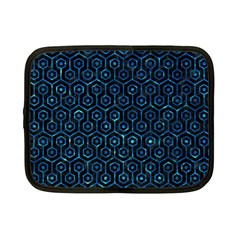 Hexagon1 Black Marble & Deep Blue Water Netbook Case (small)  by trendistuff