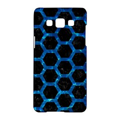 Hexagon2 Black Marble & Deep Blue Water Samsung Galaxy A5 Hardshell Case  by trendistuff