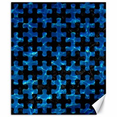 Puzzle1 Black Marble & Deep Blue Water Canvas 8  X 10  by trendistuff