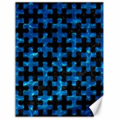 Puzzle1 Black Marble & Deep Blue Water Canvas 18  X 24