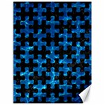 PUZZLE1 BLACK MARBLE & DEEP BLUE WATER Canvas 18  x 24   24 x18  Canvas - 1