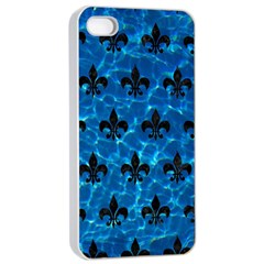 Royal1 Black Marble & Deep Blue Water Apple Iphone 4/4s Seamless Case (white) by trendistuff