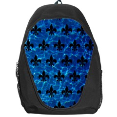 Royal1 Black Marble & Deep Blue Water Backpack Bag by trendistuff