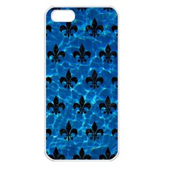 Royal1 Black Marble & Deep Blue Water Apple Iphone 5 Seamless Case (white) by trendistuff