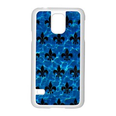 Royal1 Black Marble & Deep Blue Water Samsung Galaxy S5 Case (white) by trendistuff