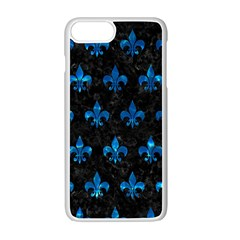 Royal1 Black Marble & Deep Blue Water (r) Apple Iphone 7 Plus White Seamless Case by trendistuff