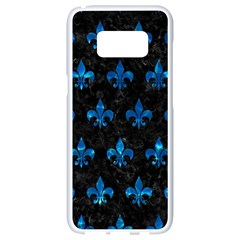 Royal1 Black Marble & Deep Blue Water (r) Samsung Galaxy S8 White Seamless Case by trendistuff