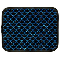 Scales1 Black Marble & Deep Blue Water Netbook Case (xl)  by trendistuff