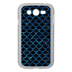 Scales1 Black Marble & Deep Blue Water Samsung Galaxy Grand Duos I9082 Case (white) by trendistuff