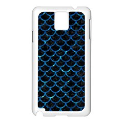 Scales1 Black Marble & Deep Blue Water Samsung Galaxy Note 3 N9005 Case (white) by trendistuff