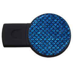 Scales1 Black Marble & Deep Blue Water (r) Usb Flash Drive Round (2 Gb) by trendistuff