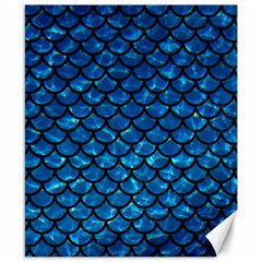 Scales1 Black Marble & Deep Blue Water (r) Canvas 8  X 10  by trendistuff