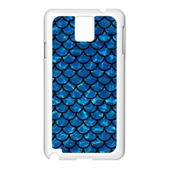 Scales1 Black Marble & Deep Blue Water (r) Samsung Galaxy Note 3 N9005 Case (white) by trendistuff