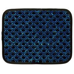 Scales2 Black Marble & Deep Blue Waterck Marble & Deep Blue Water Netbook Case (xl)  by trendistuff