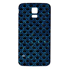 Scales2 Black Marble & Deep Blue Waterck Marble & Deep Blue Water Samsung Galaxy S5 Back Case (white) by trendistuff