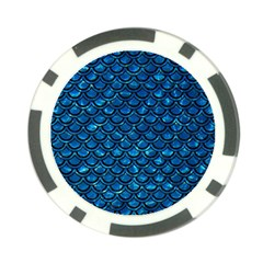 Scales2 Black Marble & Deep Blue Water (r) Poker Chip Card Guard (10 Pack) by trendistuff