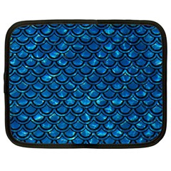 Scales2 Black Marble & Deep Blue Water (r) Netbook Case (xl)  by trendistuff