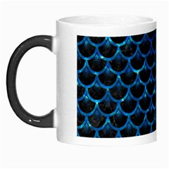 Scales3 Black Marble & Deep Blue Water Morph Mugs by trendistuff
