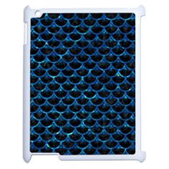 Scales3 Black Marble & Deep Blue Water Apple Ipad 2 Case (white) by trendistuff