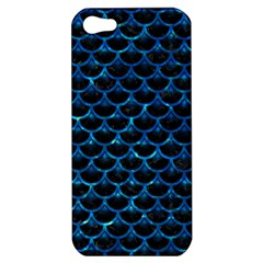 Scales3 Black Marble & Deep Blue Water Apple Iphone 5 Hardshell Case by trendistuff