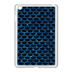 Scales3 Black Marble & Deep Blue Water Apple Ipad Mini Case (white) by trendistuff