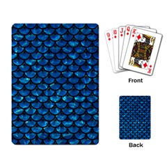Scales3 Black Marble & Deep Blue Water (r) Playing Card by trendistuff
