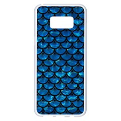Scales3 Black Marble & Deep Blue Water (r) Samsung Galaxy S8 Plus White Seamless Case by trendistuff