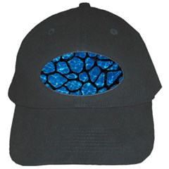 Skin1 Black Marble & Deep Blue Water Black Cap