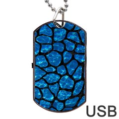 Skin1 Black Marble & Deep Blue Water Dog Tag Usb Flash (two Sides) by trendistuff