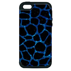 Skin1 Black Marble & Deep Blue Water (r) Apple Iphone 5 Hardshell Case (pc+silicone) by trendistuff