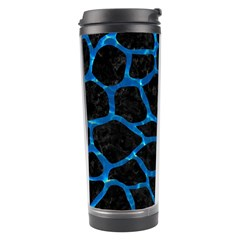 Skin1 Black Marble & Deep Blue Water (r) Travel Tumbler by trendistuff
