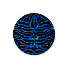 Skin2 Black Marble & Deep Blue Water Rubber Round Coaster (4 Pack)  by trendistuff