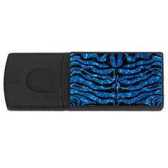 Skin2 Black Marble & Deep Blue Water (r) Rectangular Usb Flash Drive by trendistuff