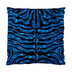 Skin2 Black Marble & Deep Blue Water (r) Standard Cushion Case (two Sides) by trendistuff