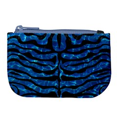 Skin2 Black Marble & Deep Blue Water (r) Large Coin Purse by trendistuff