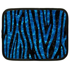 Skin4 Black Marble & Deep Blue Water (r)skin4 Black Marble & Deep Blue Water (r) Netbook Case (xl)  by trendistuff