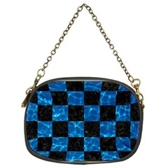 Square1 Black Marble & Deep Blue Water Chain Purses (two Sides)  by trendistuff