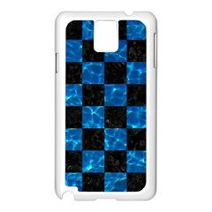 Square1 Black Marble & Deep Blue Water Samsung Galaxy Note 3 N9005 Case (white) by trendistuff