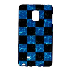 Square1 Black Marble & Deep Blue Water Galaxy Note Edge by trendistuff