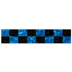 Square1 Black Marble & Deep Blue Water Flano Scarf (small) by trendistuff
