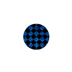 Square2 Black Marble & Deep Blue Water 1  Mini Buttons by trendistuff