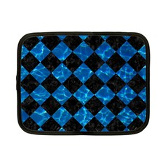 Square2 Black Marble & Deep Blue Water Netbook Case (small)  by trendistuff